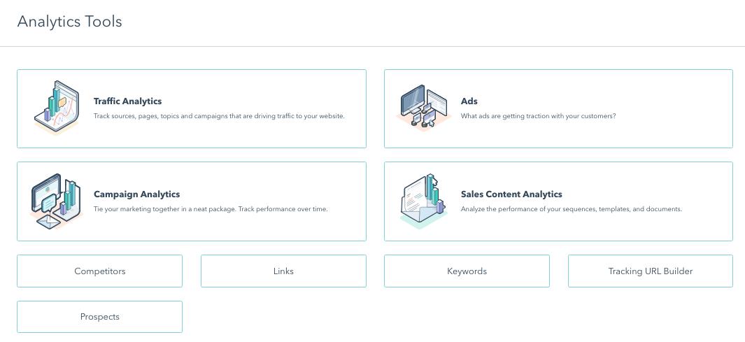 Analytics features hubspot marketing